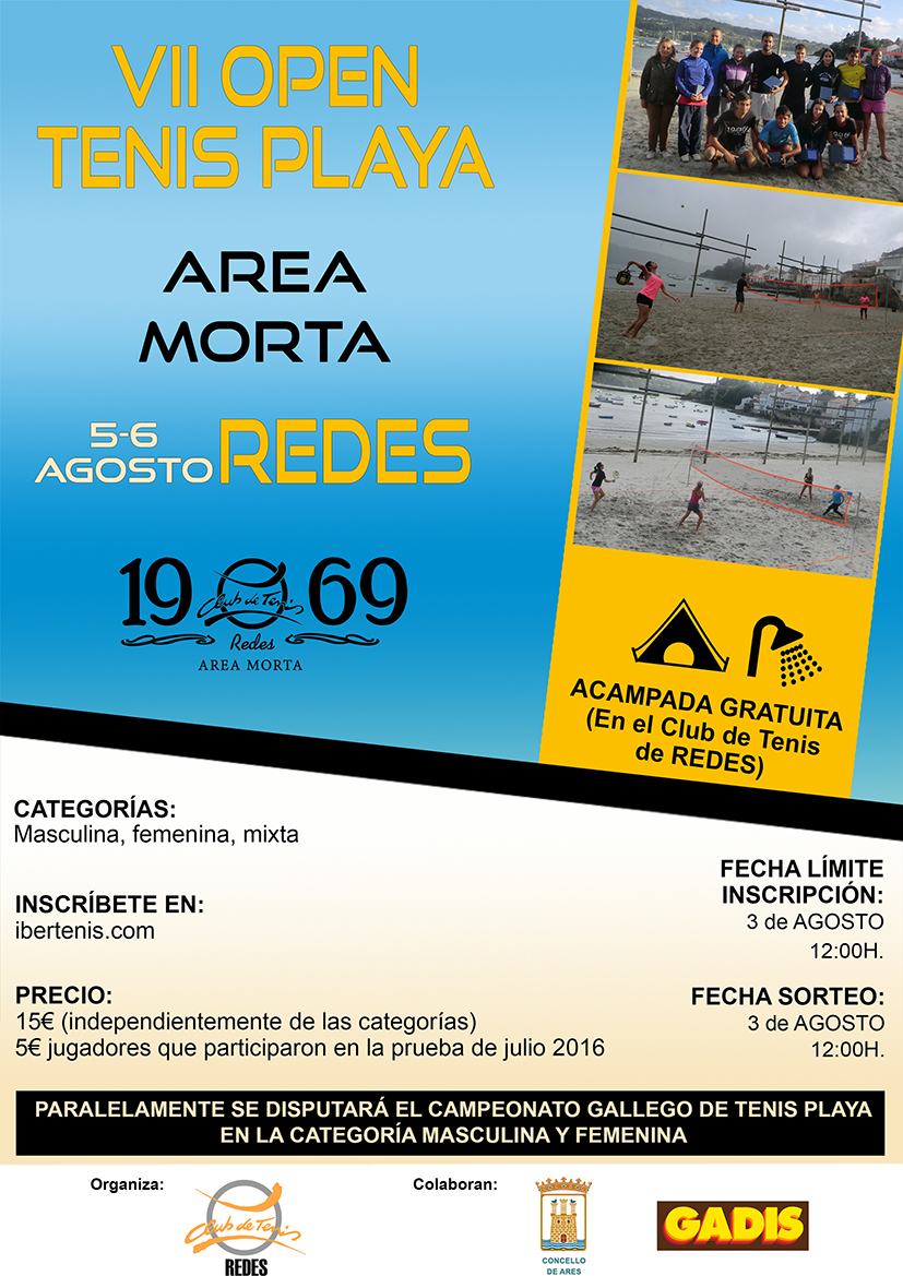 "VII OPEN TENIS PLAYA  ""AREA MORTA"" REDES"
